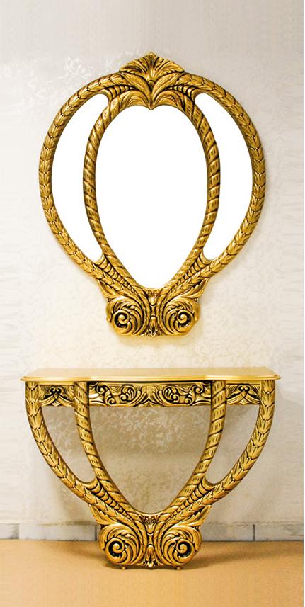 Palmiye Çekmeceli Dresuar Altın